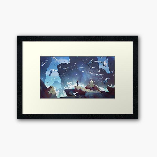 The seagulls orchestra Framed Art Print