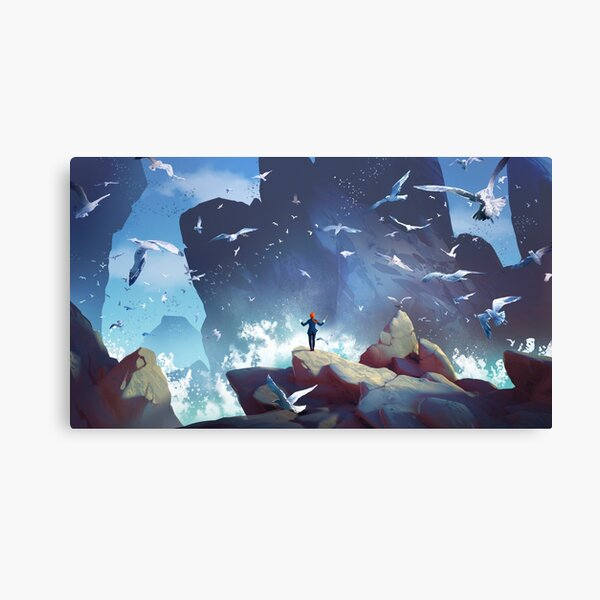 The seagulls orchestra Canvas Print