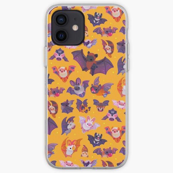 Bat - yellow iPhone Soft Case
