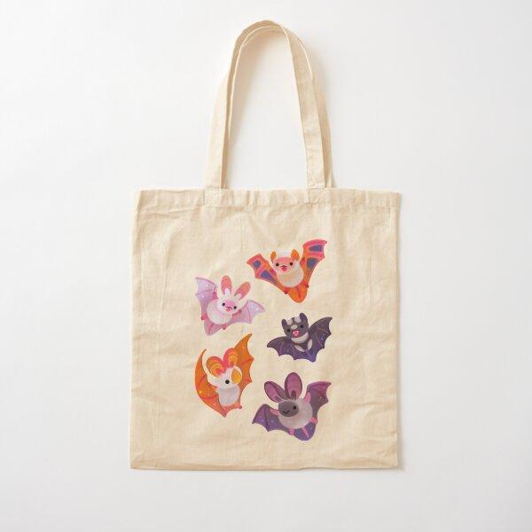 Bat - yellow Cotton Tote Bag