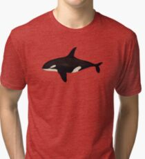 Killer whale Tri-blend T-Shirt