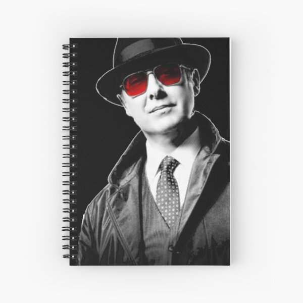 Raymond Red Glasses Spiral Notebook