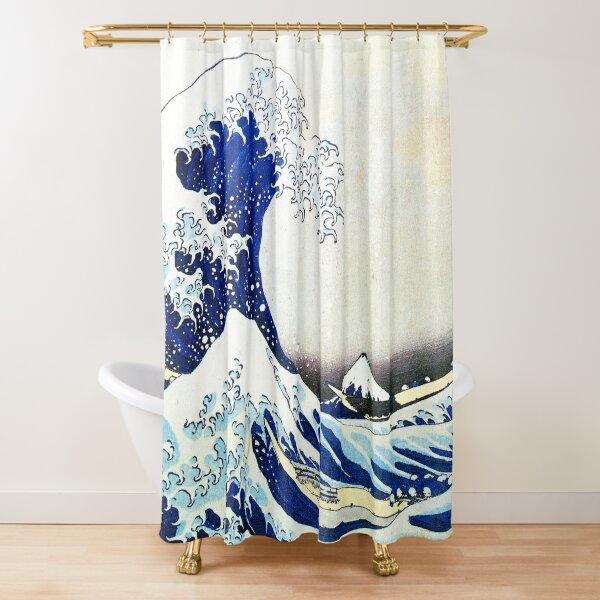 Katsushika Hokusai - Die große Welle vor Kanagawa Duschvorhang