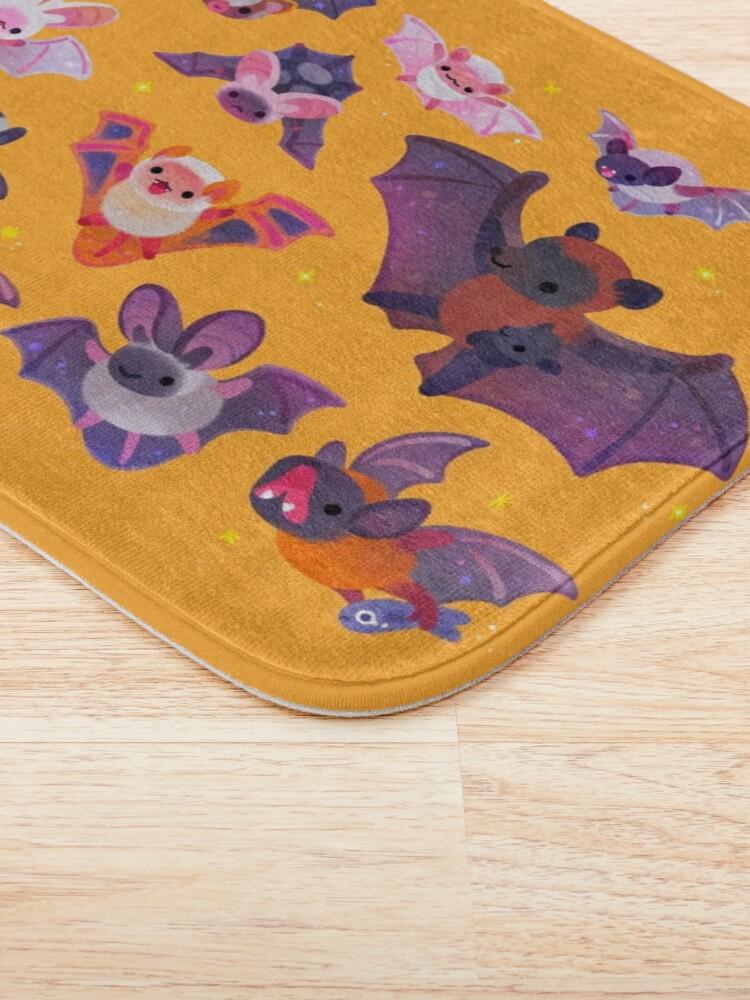 Alternate view of Bat - yellow Bath Mat