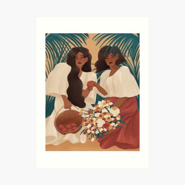 Filipina Beauties and Apples Art Print
