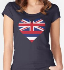 A heart for Hawaii Women's Fitted Scoop T-Shirt