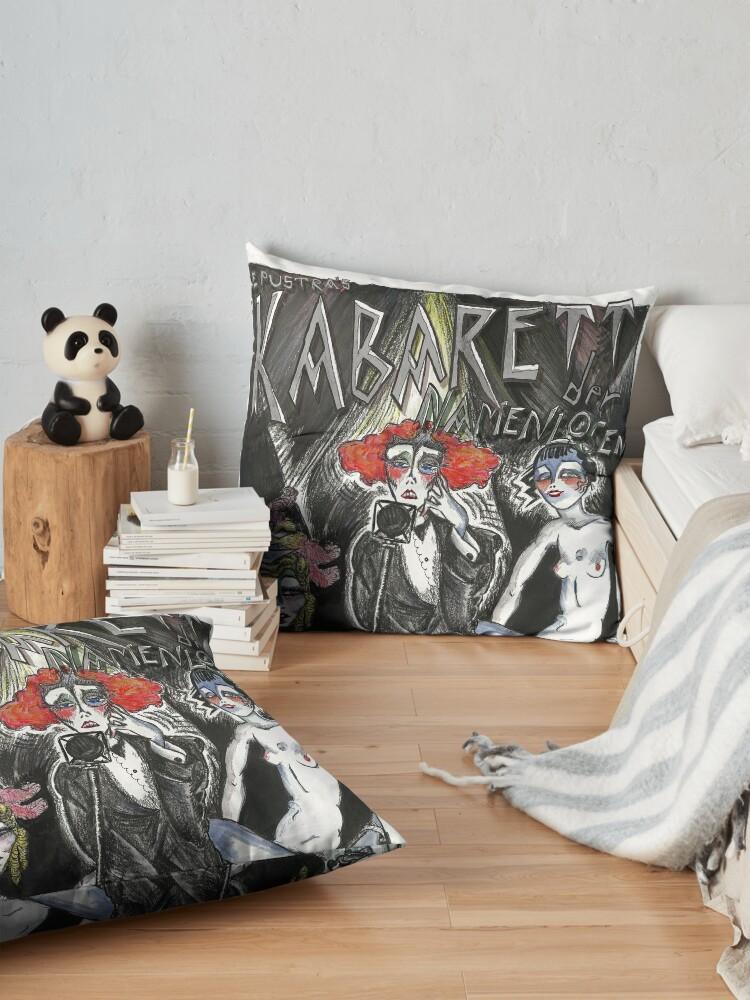 Alternate view of Le Pustra's Kabarett der Namenlosen Floor Pillow