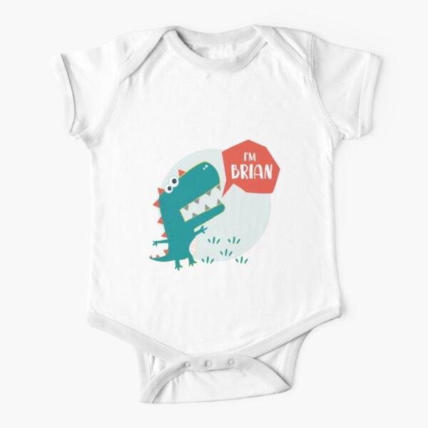 Dinosaur England Baby Bodysuit Short Sleeve English Baby Gifts English Soccer Bodysuit for Baby Dinosaur Playing Soccer One Piece for Baby
