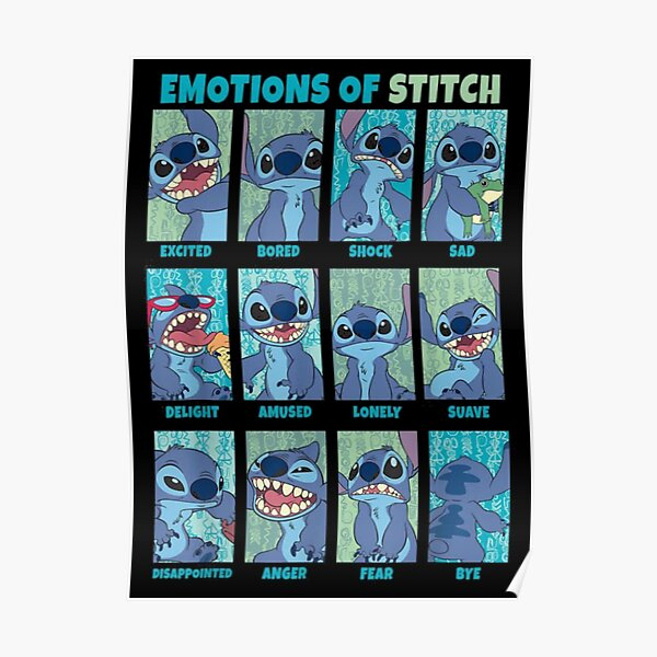 Emotions of stitch Poster