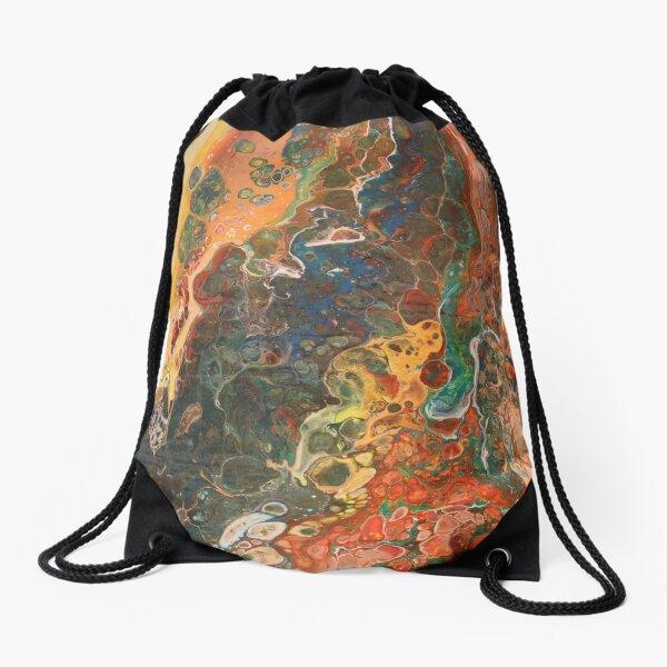 Flooding Earth Drawstring Bag