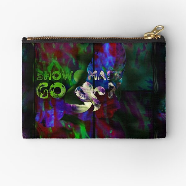 Show Mask Go On_floral Zipper Pouch