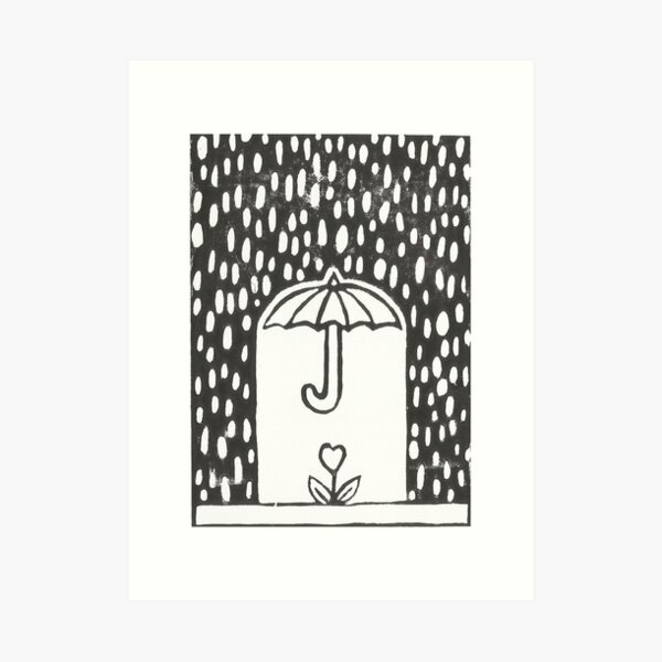 Heart Plant Under Protective Umbrella Art Print