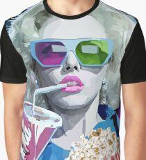Watching Movie Graphic T-Shirt