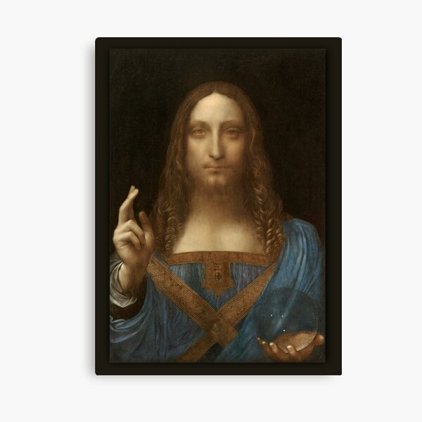 Leonardo Da Vinci Salvator Mundi- Jesus Christ Savior  Canvas Print