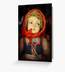 The Little Peasant Girl Greeting Card