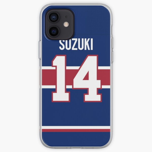 Montreal Canadiens Nick Suzuki Reverse Jersey Back Phone Case iPhone Soft Case