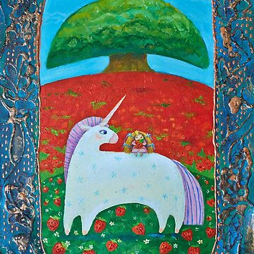 Princess and white unicorn by Netopir