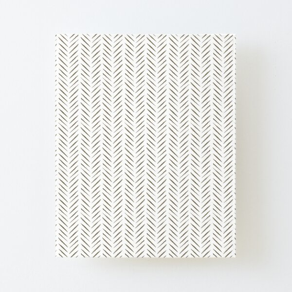 Jungle Pattern Set | White and brown watercolor arrow pattern Canvas Mounted Print