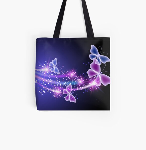 Sparkling Butterfly Merchandise All Over Print Tote Bag