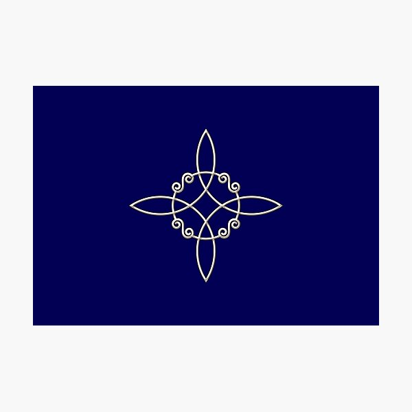 Nudo de bruja, poder de 4 elementos, magia, mística, brujería, wicca Lámina fotográfica