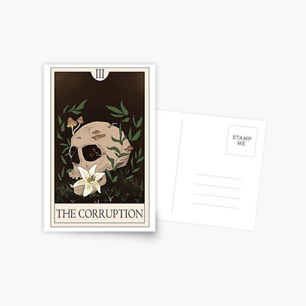 La corruption - La série de tarot des archives Magnus Carte postale