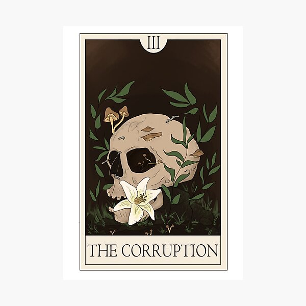 The Corruption - The Magnus Archives Tarot Series Photographic Print