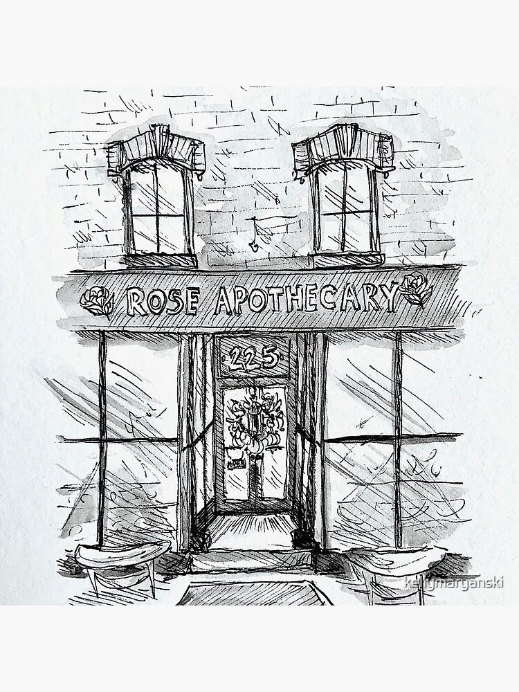 Rose Apothecary Original Ink Illustration by kellymaryanski