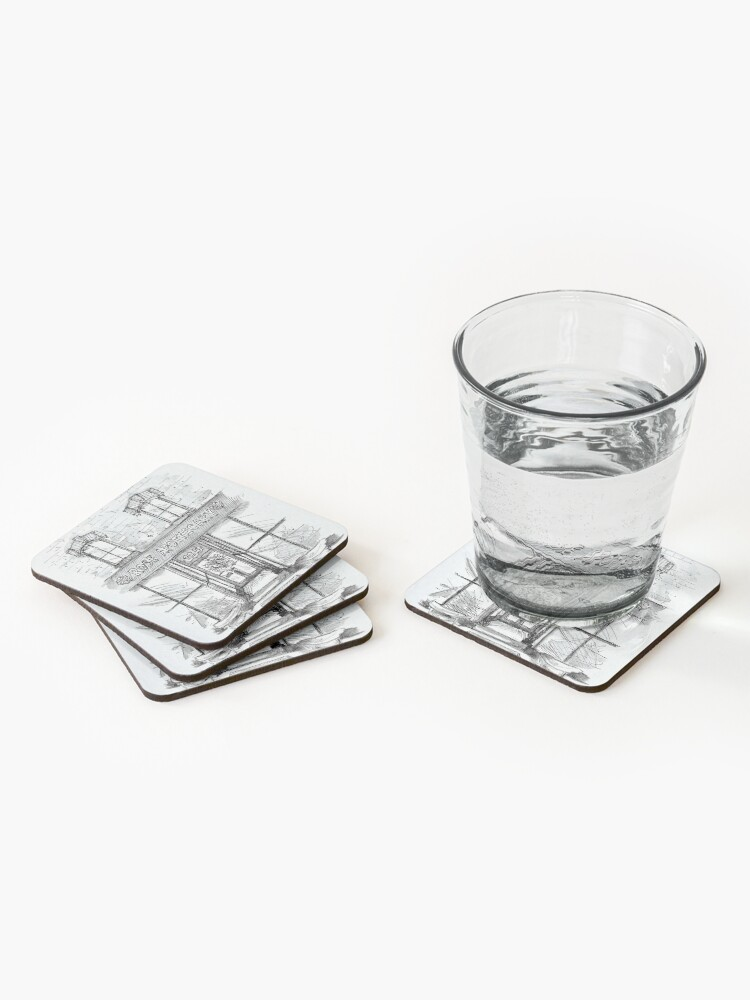 Alternate view of Rose Apothecary Original Ink Illustration Coasters (Set of 4)