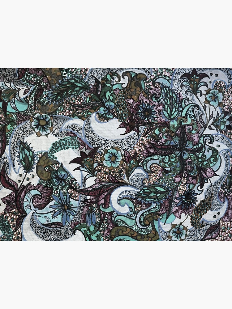 Textile Tattoo Mandala Pale Blue by AstridS
