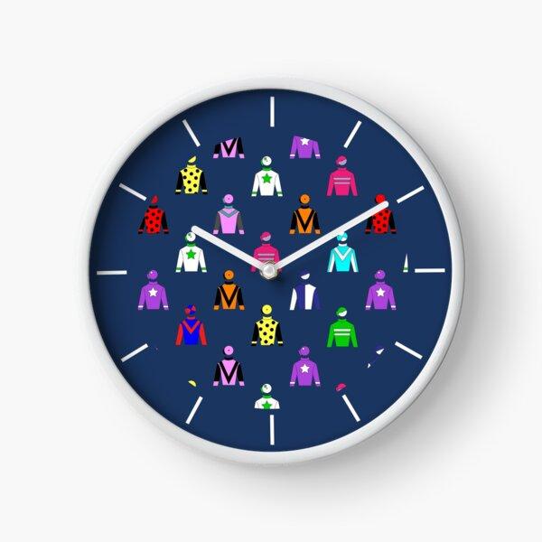 Horse Racing Jockey Silks Clock