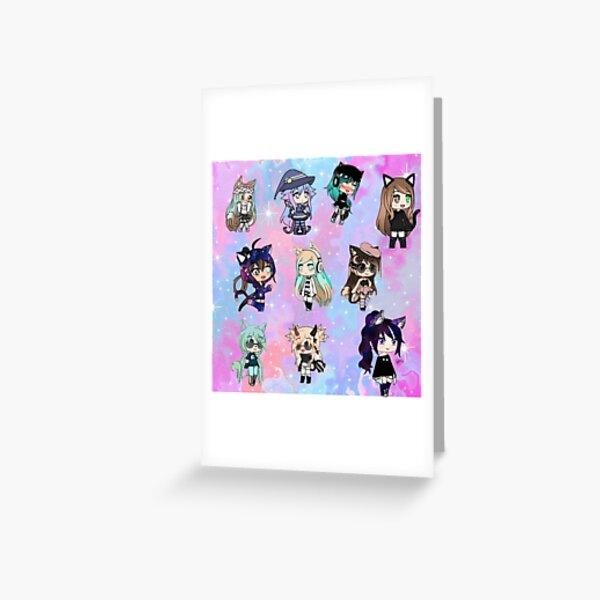 Gacha Life Girl bundle pack Greeting Card