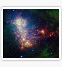 Infrared portrait revealing the stars and dust of the Small Magellanic Cloud. Sticker