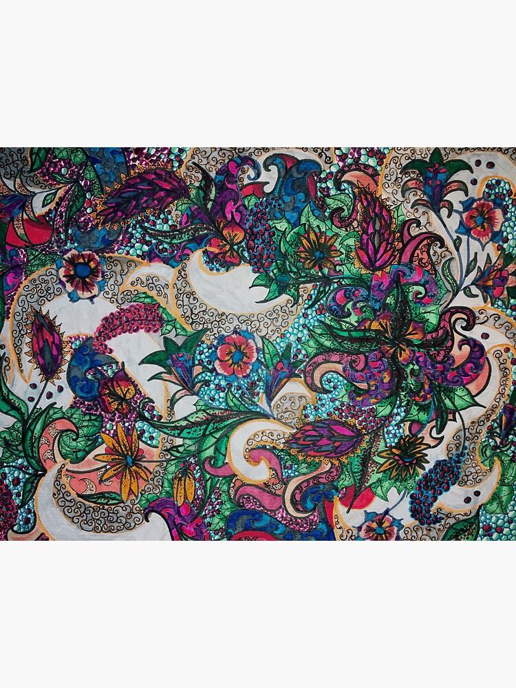 Textile tattoo mandala rainbow by AstridS