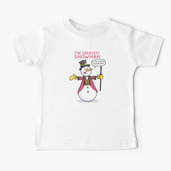 The Greatest Snowman Baby T-Shirt