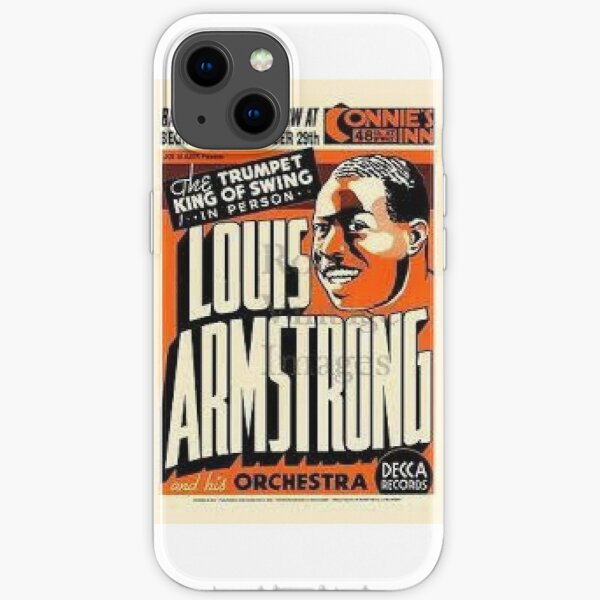 Louis Armstrong Retro poster iPhone Soft Case