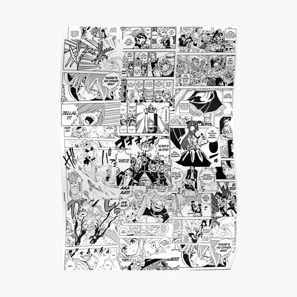 Fairy Tail Collage  Poster