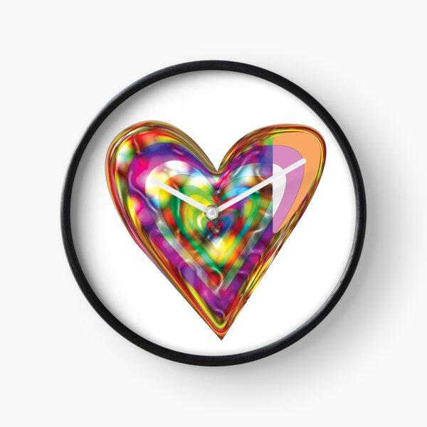 Heart Iridescence  Clock