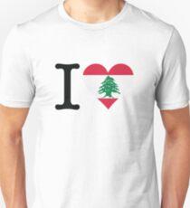 I Love Lebanon Unisex T-Shirt