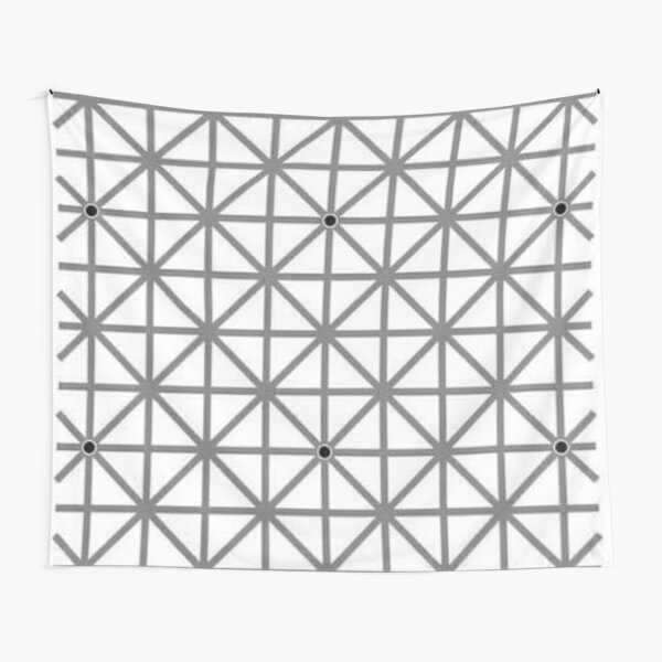 12 dot optical illusion Tapestry