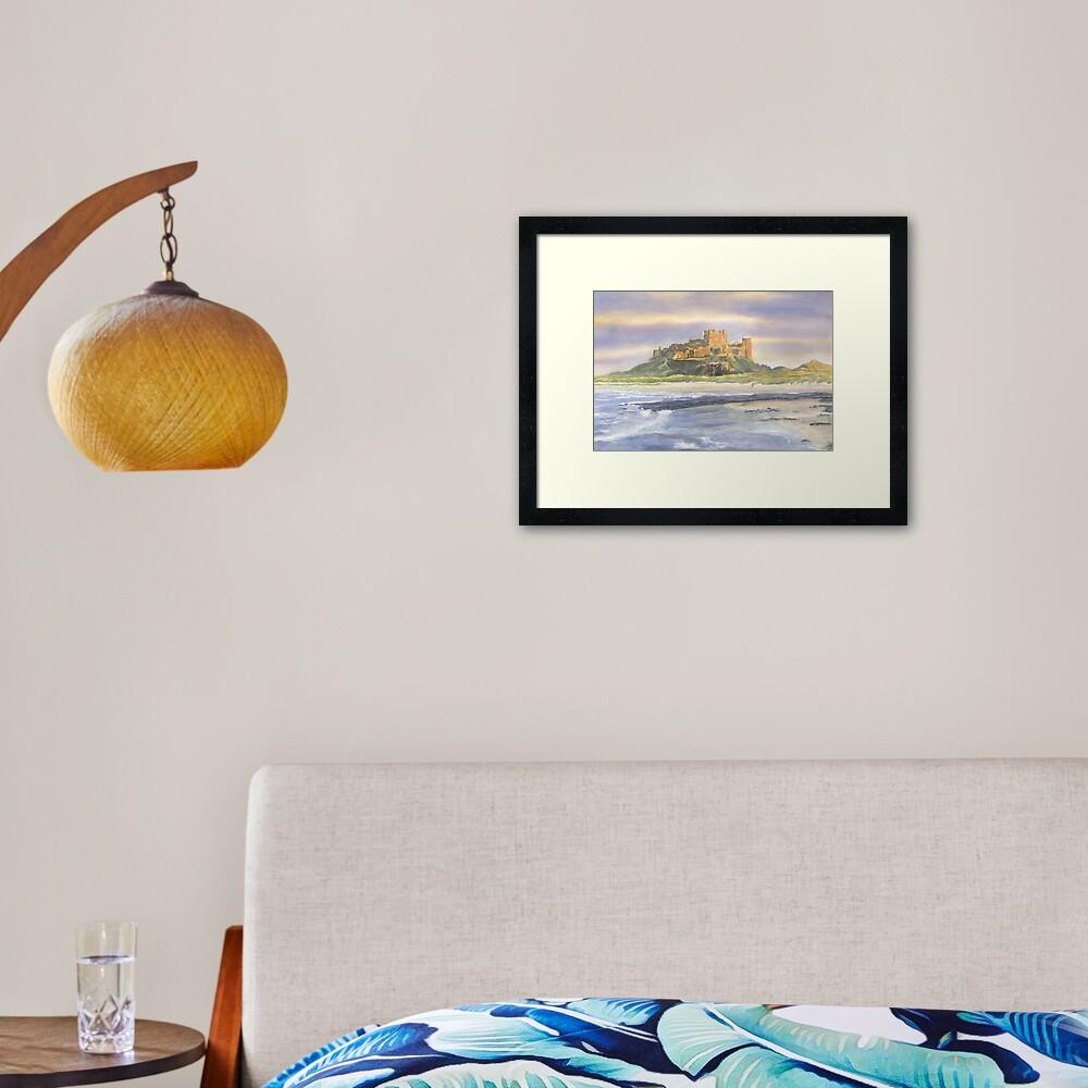 Bamburgh Castle, Northumberland Framed Art Print