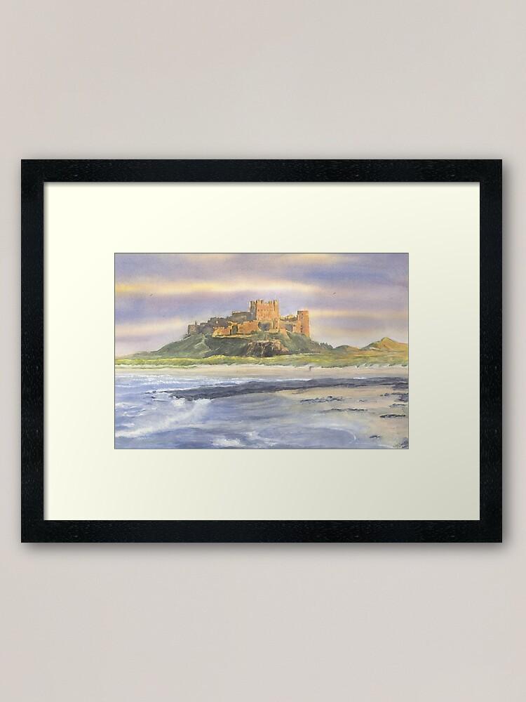 Alternate view of Bamburgh Castle, Northumberland Framed Art Print