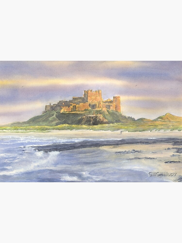 Bamburgh Castle, Northumberland by GillGillIllustr