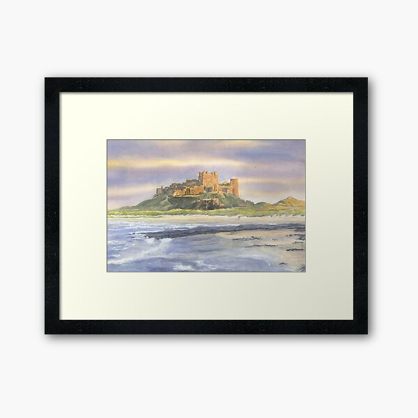 Bamburgh Castle, Northumberland Framed Art Print