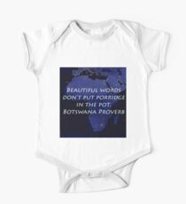 Beautiful Words - Botswana Proverb Kids Clothes