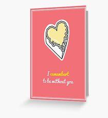 Cheesy Hearts - Camembert Greeting Card