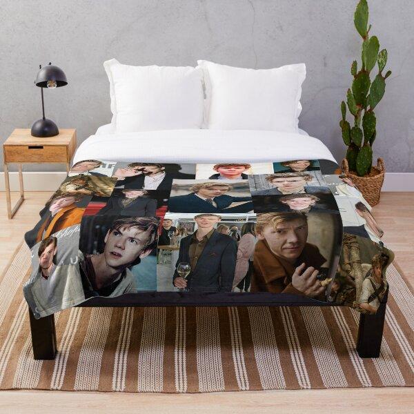 thomas brodie-sangster collage Throw Blanket