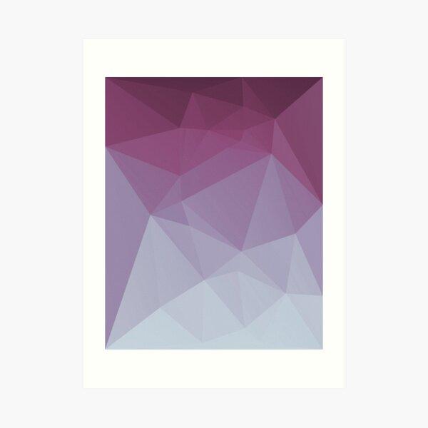 Low Poly Polygonal Geometric Design Pink 01 Art Print