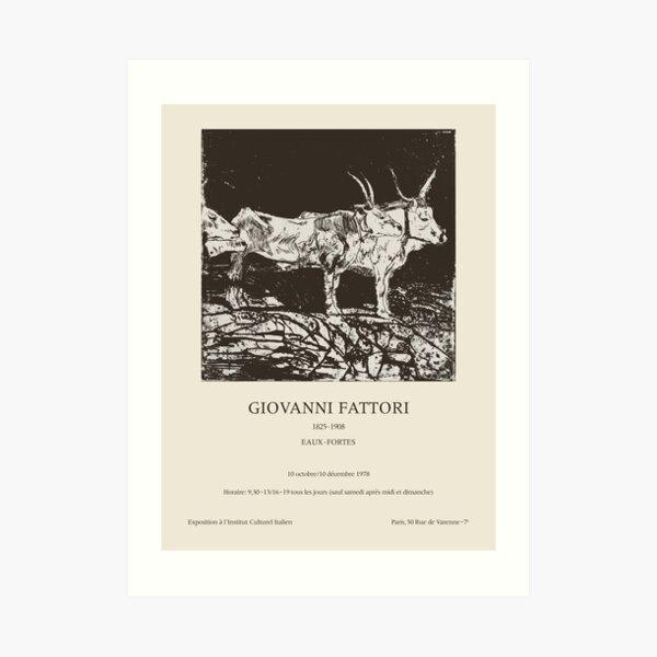 Giovanni Fattori. Exhibition poster for Italian Cultural Institute in Paris, 1978. Art Print