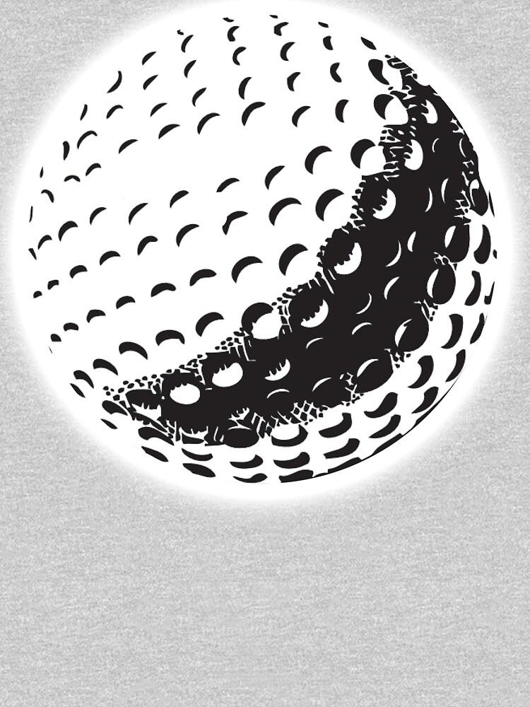 GOLF BALL, SPORT, Golfing, Golf, Black on White. by TOMSREDBUBBLE