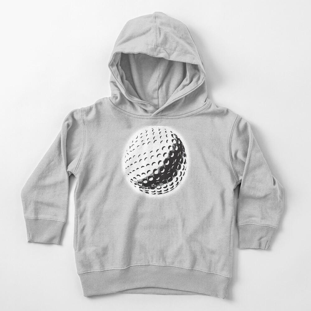 GOLF BALL, SPORT, Golfing, Golf, Black on White. Toddler Pullover Hoodie